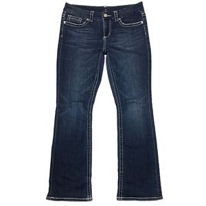 Seven7 Embroidered Slim Bootcut Jeans